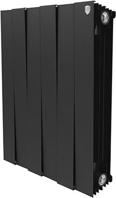 Водяной радиатор отопления Royal Thermo PianoForte 500/Noir Sable - 6 секц. радиатор royal thermo pianoforte tower noir sable 18 секций rtpftns50018