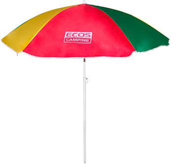Пляжный зонт Ecos BU-04 160*6 см складная штанга 145 см пляжный зонт ecos bu 04 160 6 см складная штанга 145 см