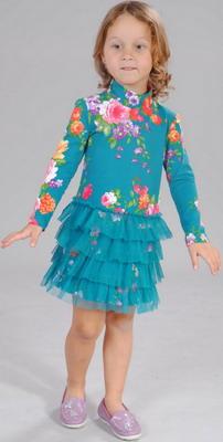 Платье Fleur de Vie 24-2260 рост 134 м.волна брюки fleur de vie 24 2182 рост 134 черные