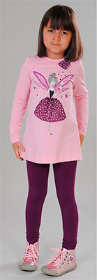 Туника Fleur de Vie 24-2420 рост 134 розовый брюки fleur de vie 24 2181 рост 134 бежевые