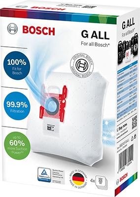 Мешки-пылесборники Bosch тип ''G ALL'' 4 шт. BBZ 41 FGALL 17000940 мешки для пылесоса bosch bbz16gall 16шт для g all