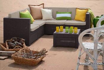 купить Комплект мебели Keter Provence with coffee table коричневый дешево