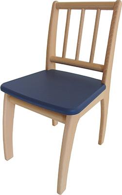 Стул Geuther Bambino 2420 NAGK натуральный/синий столик игровой geuther bambino белый натуральный