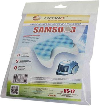 Набор синтетических микрофильтров Ozone HS-12 для пылесоса аккумулятор для рации vector vt 44 hs bp 44 hs