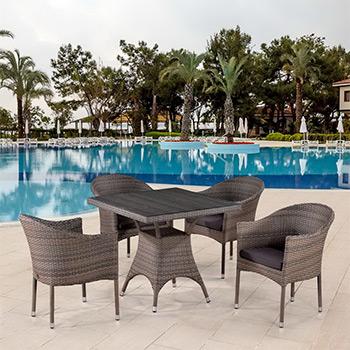 Комплект мебели Афина T 220 BG/Y 350 BG-W 1289 Pale 4Pcs