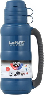 лучшая цена Термос LaPlaya Traditional Glass 35-180 dark-blue 560011
