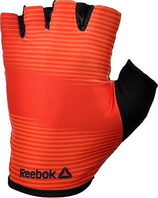Перчатки Reebok (без пальцев) красные размер L RAGB-11236RD цена и фото