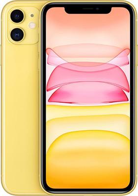 Смартфон Apple iPhone 11 64GB Yellow (MWLW2RU/A) смартфон iphone xr 64gb yellow mry72ru a