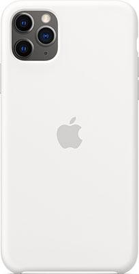 Чехол силиконовый Apple Silicone Case для iPhone 11 Pro Max White MWYX2ZM/A силиконовый чехол apple silicone case для iphone xs max цвет papaya свежая папайя mvf72zm a