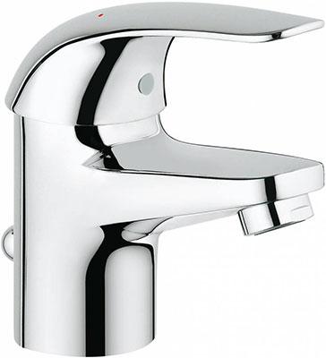 Фото - Смеситель для ванной комнаты Grohe Euroeco для раковины со сливным гарнитуром 23262000 смеситель встраиваемый для ванны grohe euroeco new встр механизм в комплекте 32747000