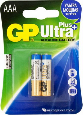 Батарейка GP Ultra Plus Alkaline 24AUP LR03 AAA (2шт)