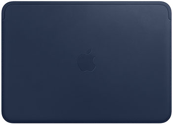 Чехол Apple Leather Sleeve for 12‑ inch MacBook - Midnight Blue MQG02ZM/A