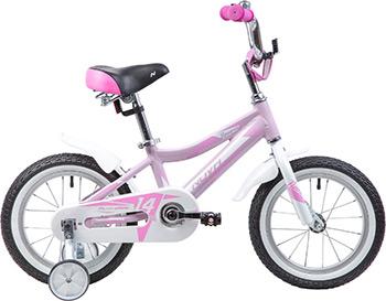 цена на Велосипед Novatrack 14'' NOVARA алюм. розовый тормоз нож короткие крылья нет багажника