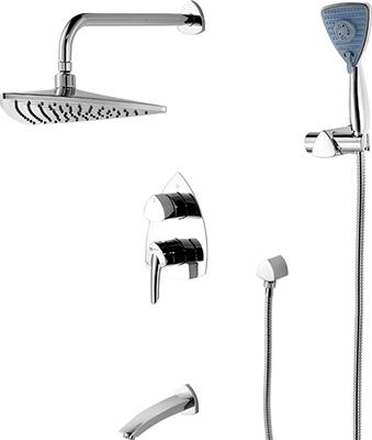 Смеситель для ванной комнаты Lemark Mars LM3522C для ванны и душа встраиваемый душевая система lemark mars для ванны и душа встраиваемый lm3522c