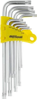 Фото - Набор ключей AV Steel Г-образных TORX удлиненных T10-T50 9 предм. AV-368109 t50 b