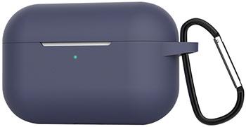 Чехол силиконовый Eva для наушников Apple AirPods Pro с карабином - синий (CBAP302BL) чехол red line для apple airpods pro с карабином black