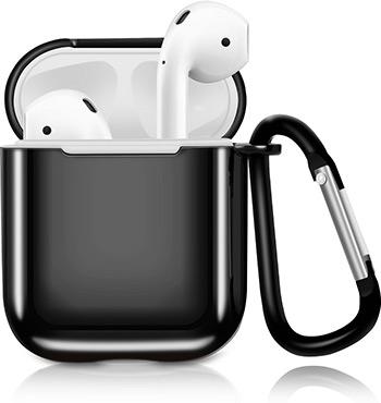 Фото - Чехол Eva для наушников Apple AirPods 1/2 с карабином - Чёрный (CBAP07B) сифон для душевого поддона unicorn easyopen с латунным выпуском 1 1 2 d40 с отводом g311e