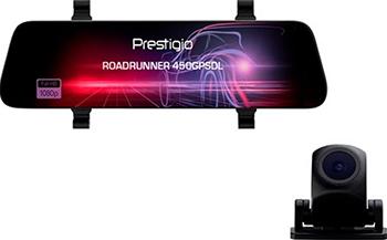 Автомобильный видеорегистратор Prestigio RoadRunner 450GPSDL черный автомобильный видеорегистратор prestigio roadrunner 415gps черный