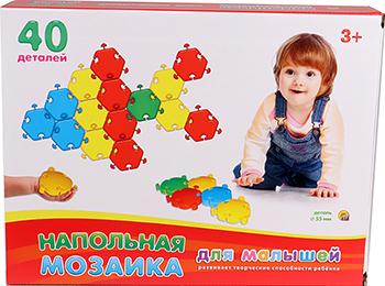Фото - Напольная мозаика для малышей Рыжий кот в коробке (40 деталей) М-5033 рыжий кот мозаика круглая 110 фишек м 5656