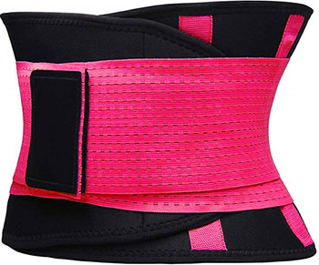 Фитнес пояс для похудения CleverCare розовый  размер XL  TX-LB033P