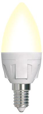 Лампа Uniel LED-C37-7W/3000K/E14/FR/DIM PLP01WH