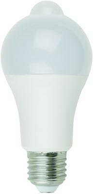 Лампа Uniel LED-A60-12W/4000K/E27/PS MS PLS10WH с дат. освещенности и движен