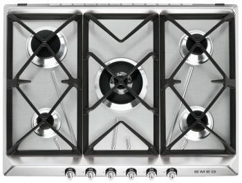 Встраиваемая газовая варочная панель Smeg SR 975 XGH smeg sr 84 agh