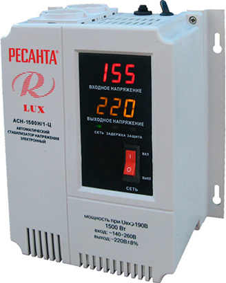 цена на Стабилизатор напряжения Ресанта АСН-1500 Н/1-Ц Lux