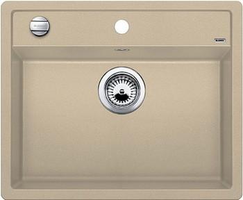 Кухонная мойка BLANCO DALAGO 6 SILGRANIT шампань с клапаном-автоматом кухонная мойка blanco dalago 45 f silgranit кофе с клапаном автоматом