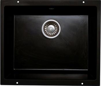 Кухонная мойка LAVA U.1 (LAVA чёрный металлик) цена