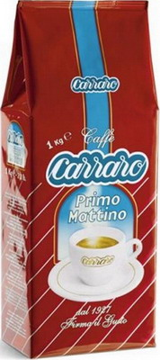 Кофе зерновой Carraro Primo Mattino 1кг primo приправа для баранины kleftiko barrel wine 330 г 507 primo