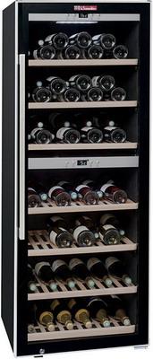 Винный шкаф LaSommeliere ECS 135.2Z чёрный с чёрной рамкой