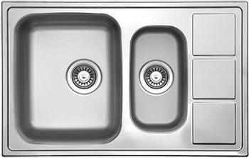 Кухонная мойка Florentina ПРОФИ 780.500.1K.08 нержавеющая сталь декорированная кухонная мойка florentina профи 780 500 1k 08 нержавеющая сталь матовая чаша слева