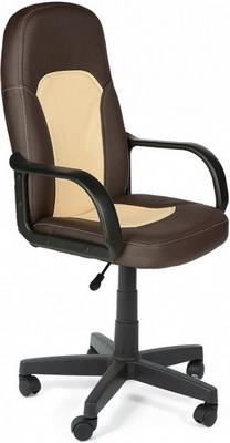 Кресло Tetchair PARMA (кож/зам Коричневый бежевый PU 36-36/36-34/06) кресло компьютерное tetchair парма parma доступные цвета обивки искусств чёрная кожа