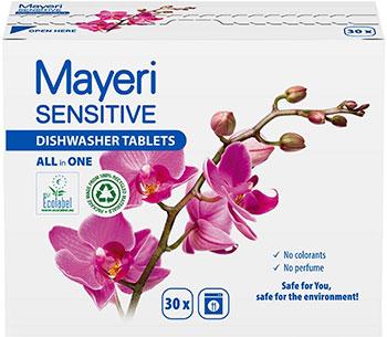 Таблетки для ПММ Mayeri Sensitive ЭКО 30 шт.M805L
