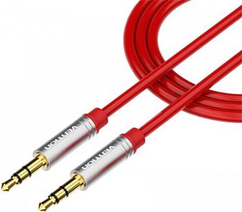 Кабель Vention аудио Jack 3 5 mm M/Jack 3 5 mm M 1 м Красный кабель соединительный 1 5м vention 3 5 jack m 3 5 jack m угловой коннектор p360ac b150 t