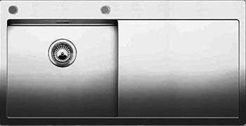 Кухонная мойка BLANCO CLARON 5S-IF/А (чаша слева) нерж. сталь зеркальная полировка 521626 часы мужские amst 3003