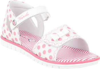 цены Туфли открытые Kapika 33282К-3 33 размер белый/розовый