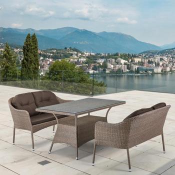 Комплект мебели Афина с диванами (иск. ротанг) 2и1 T 198 B/S 54 B-W 56 Light Brown цена 2017