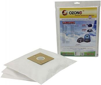 Мешки-пылесборники Ozone SE-03 синтетические для пылесоса 3 шт