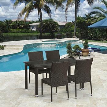 Комплект мебели Афина T 256 A/Y 380 A-W 53 Brown 4Pcs