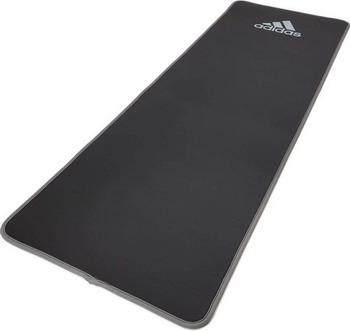 Тренировочный коврик (мат) для фитнеса Adidas ADMT-12235GR комбинезон для йоги и фитнеса без рукавов грация цветная agyoga серый 164см 42 44