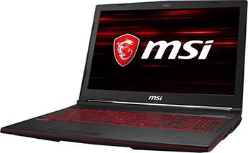 Ноутбук MSI GL63 8SC-007RU i7 (9S7-16P812-007) чёрный игровой ноутбук msi gl63 8sc 9s7 16p812 017 черный