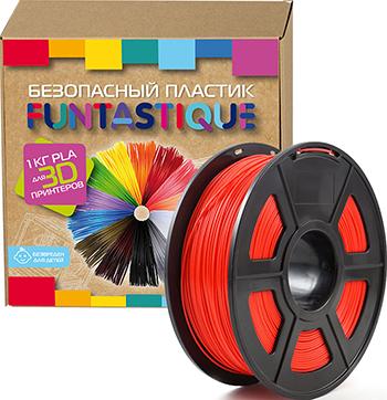PLA-пластик в катушке Funtastique PLA-1KG-RD 1.75 мм 1 кг (Красный)