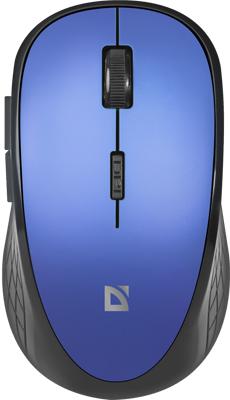 Беспроводная оптическая мышь Defender Aero MM-755 6D 1600dpi бесшумная синий (52755)