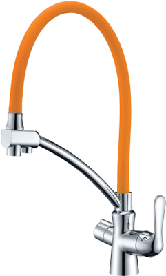 Кухонный смеситель Lemark Comfort LM3070C-Orange для кухни с подключением к фильтру с питьевой водой