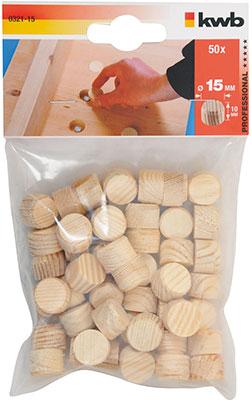 цена на Пробка деревянная Kwb D15х10мм 50 шт. 0321-15