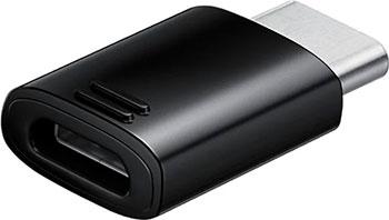 Фото - Переходник Samsung EE-GN930 EE-GN930BBRGRU micro USB B (f) USB Type-C (m) черный flashing usb 2 0 male to micro 9 pin usb male data sync charging cable for samsung galaxy note 3
