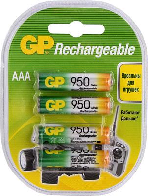 Комплект аккумуляторов GP АAА (LR03) 4 шт. (GP 95AAAHC-2DECRC4) GP 95AAAHC-2DECRC4 40/400