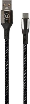USB кабель Usams US-SJ319 U27 USB - Type-C с индикатором 5А черный (SJ319USB01)